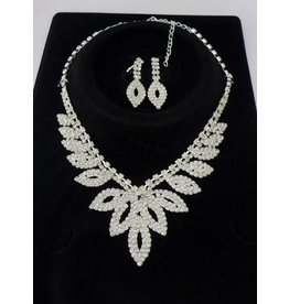 fH2 Rhinestone Jewelry Set
