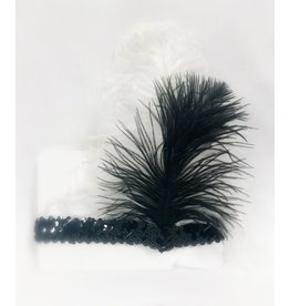 Karries Kostumes Sequin Feathered Headband