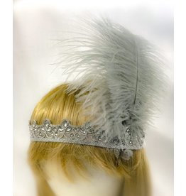 Karries Kostumes Silver Headband with Feathers