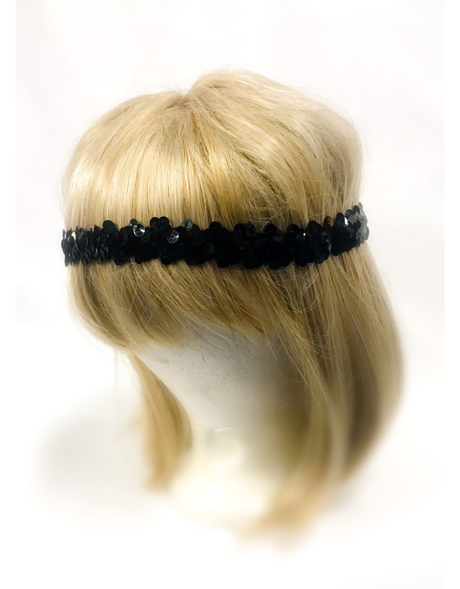 Karries Kostumes Black Sequin Headband