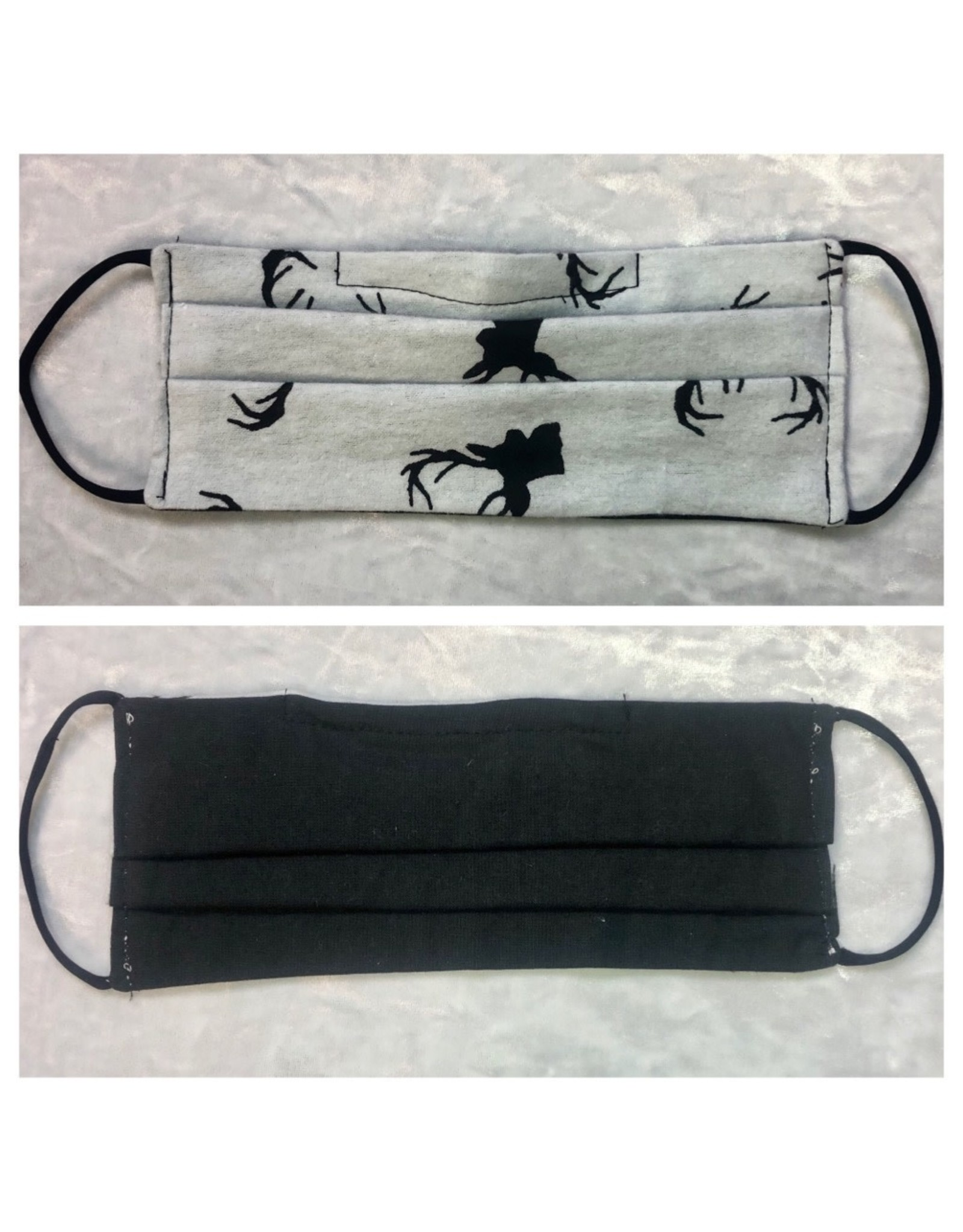 Karries Kostumes Lrg Fabric Face Mask - Grey Deer