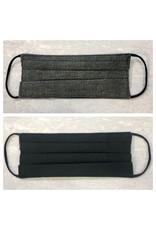 Karries Kostumes Lrg Fabric Face Mask - Grey + Black