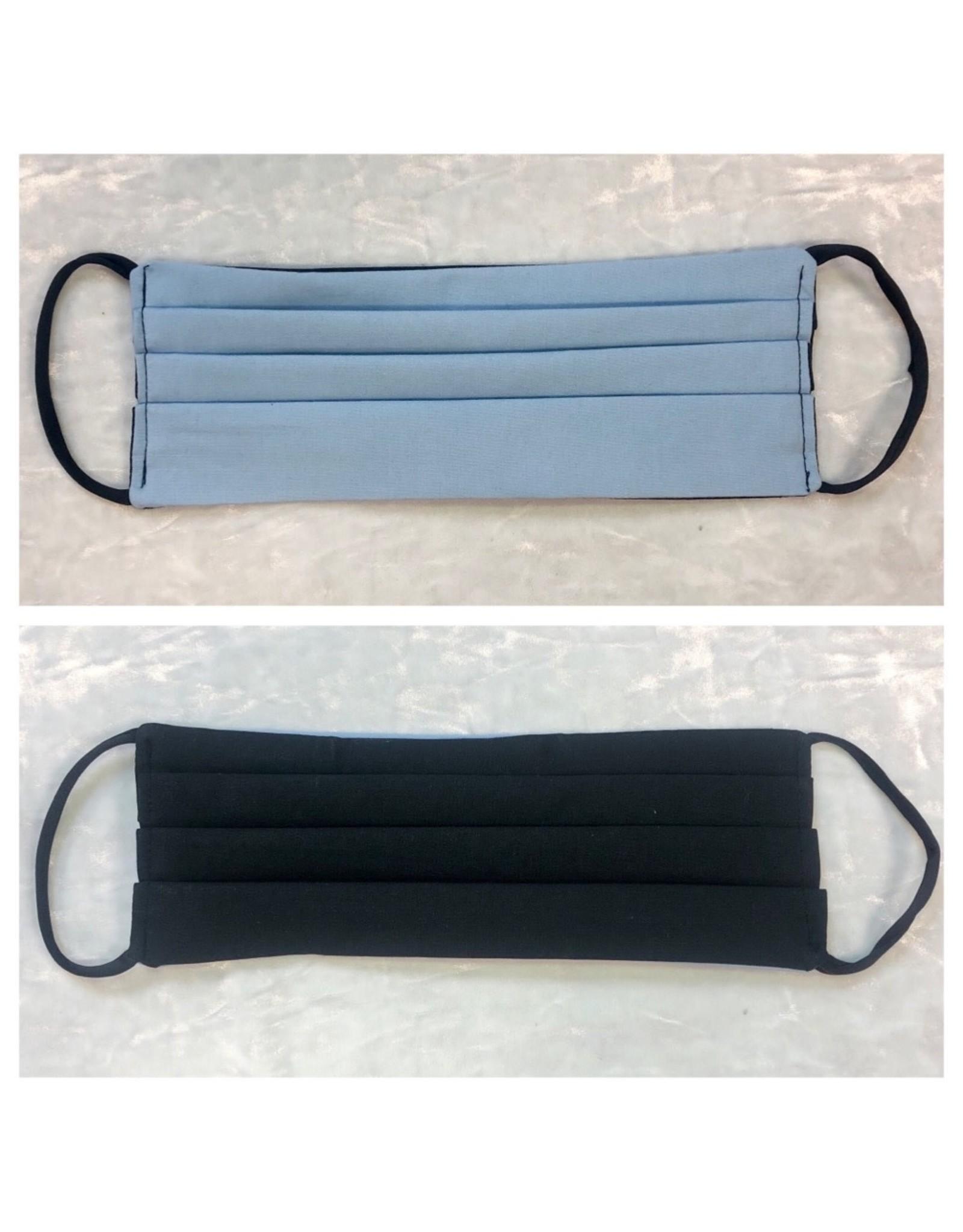 Karries Kostumes Lrg Fabric Face Mask -Light Blue+Black