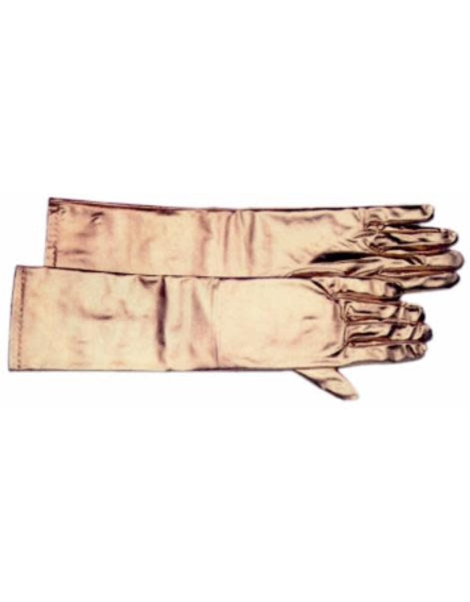 SKS Novelty Long Gold Satiny Gloves