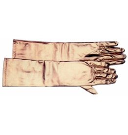 SKS Novelty Long Gold Satiny Gloves