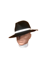 SKS Novelty Permafelt Gangster Hat Black
