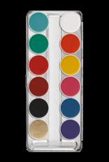 Kryolan Kryolan Aquacolor Palette - 12 Color