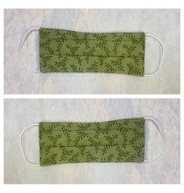 Karries Kostumes Medium Fabric Face Mask - Green Leaf