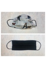 Karries Kostumes Med Fabric Face Mask - Hockey Dog + Black