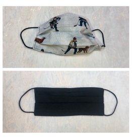 Karries Kostumes Medium Fabric Face Mask - Hockey Dog + Black