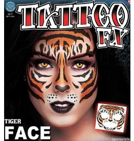 Tinsley Transfers Tiger Face Temporary Tattoo