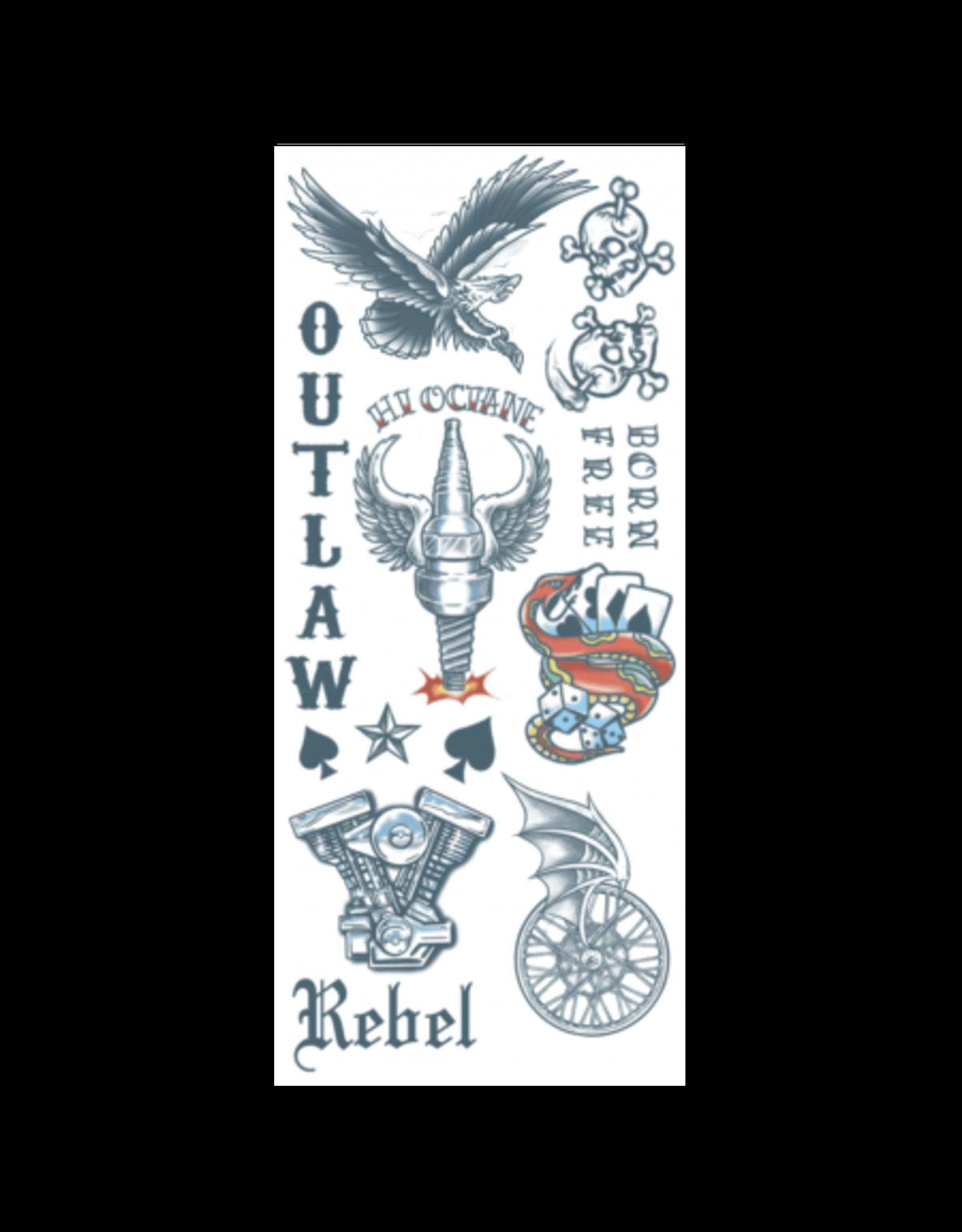 Tinsley Transfers Temporary Tattoos - Biker Outlaws