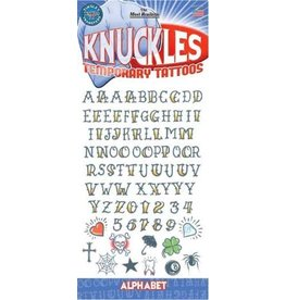 Tinsley Transfers Temporary Tattoos - Knuckles Alphabet