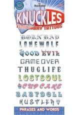 Tinsley Transfers Temporary Tattoos - Knuckles Phrases
