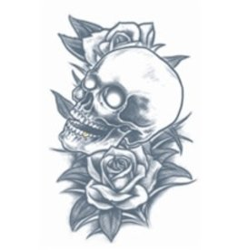 Tinsley Transfers Temporary Tattoos - Skull and Roses