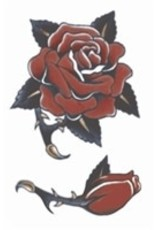 Tinsley Transfers Temporary Tattoos - Vintage Rose