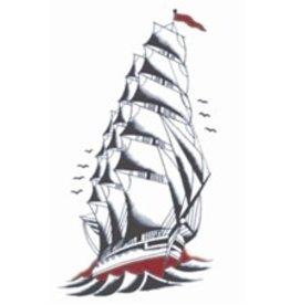 Tinsley Transfers Temporary Tattoos - Vintage Ship