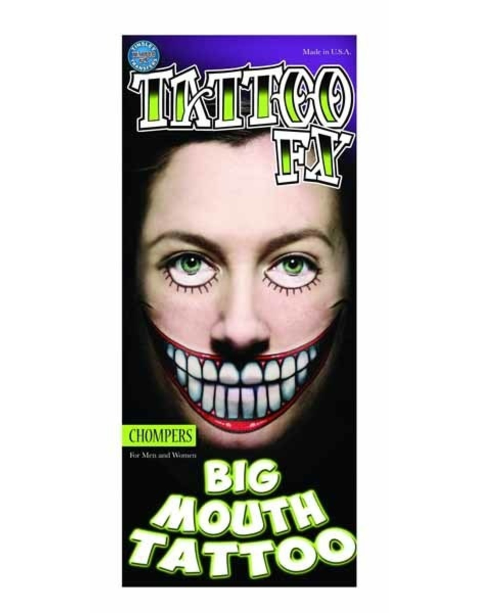 Tinsley Transfers Chompers Big Mouth Tattoo
