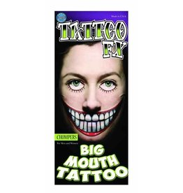Tinsley Transfers Chompers Big Mouth Temporary Tattoo