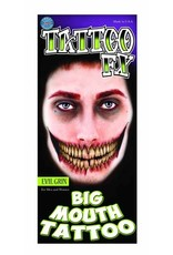 Tinsley Transfers Evil Grin Big Mouth Temporary Tattoo