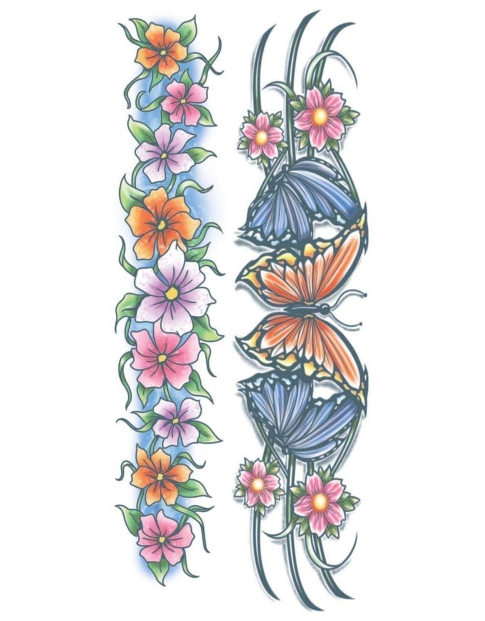 Tinsley Transfers Flowers Body Band Tattoo