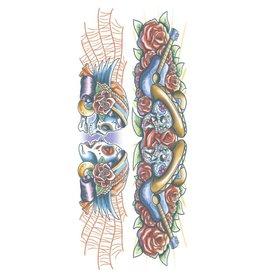 Tinsley Transfers Gypsy Skull Body Band Tattoo