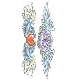 Tinsley Transfers Swallows Body Band Tattoo
