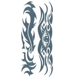 Tinsley Transfers Tribal Eye Body Band Tattoo