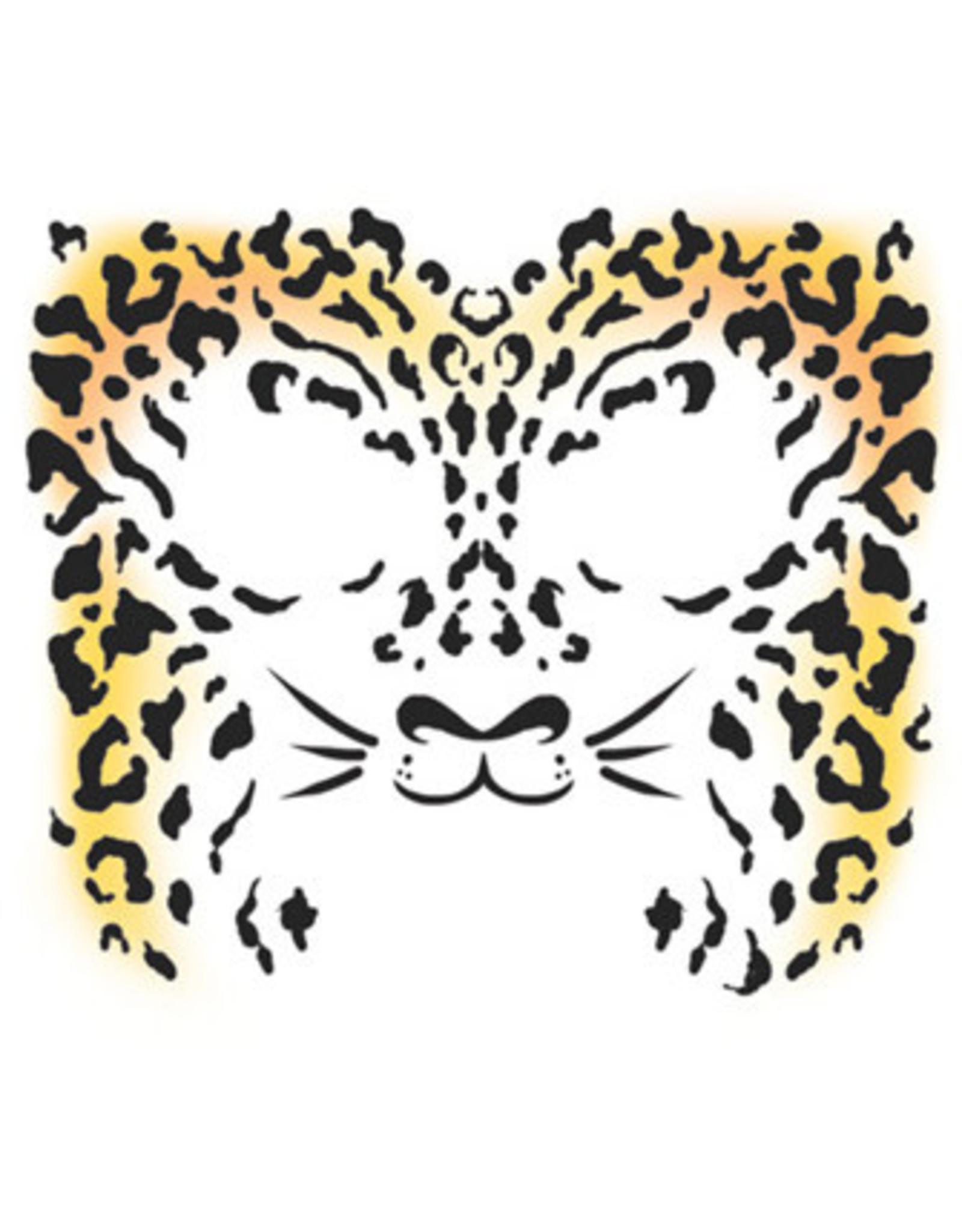 Tinsley Transfers Cheetah Face Temporary Tattoo