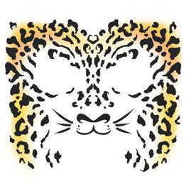 Tinsley Transfers Cheetah Face Tattoo