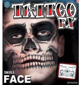 Tinsley Transfers Skull Face Tattoo