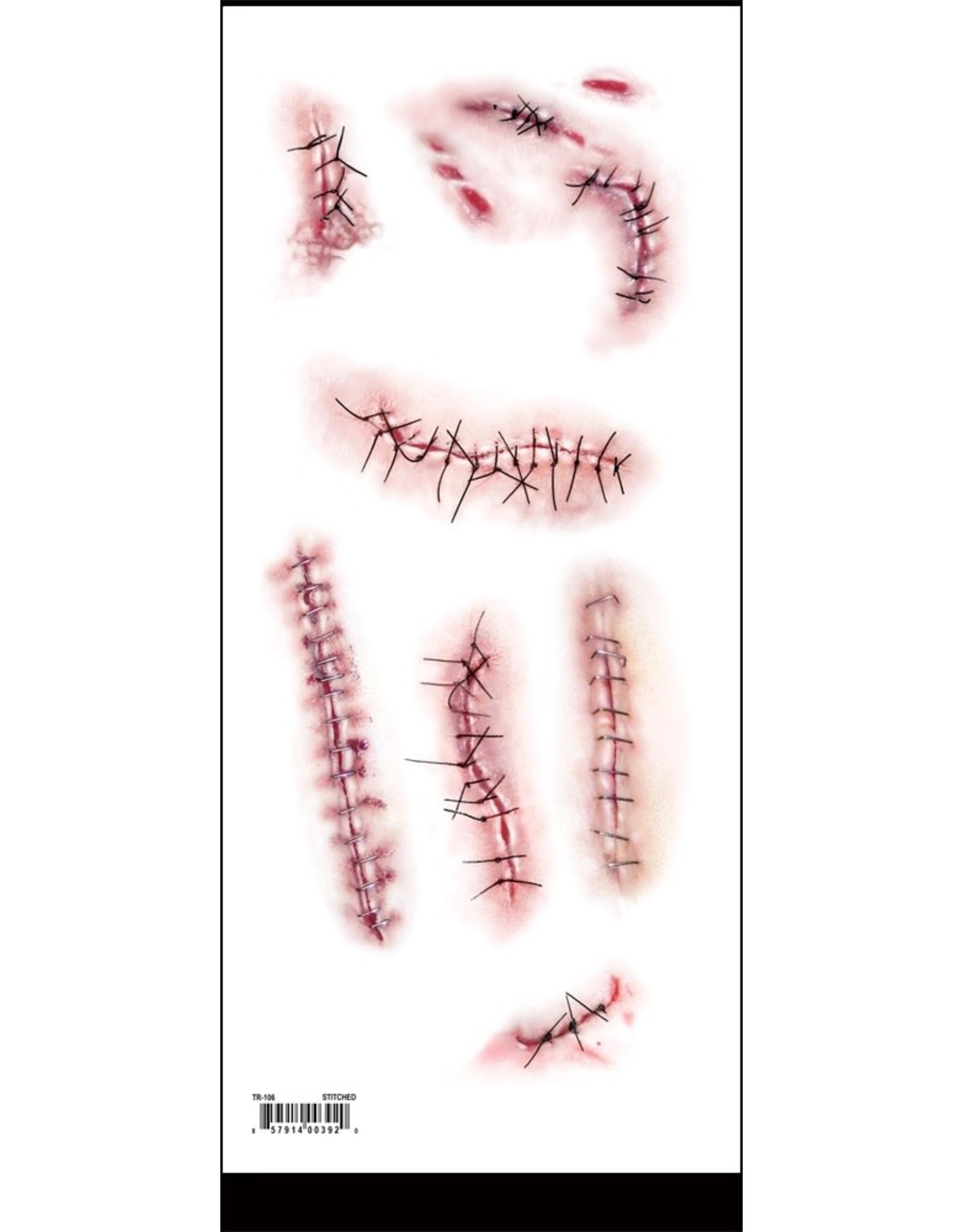 Tinsley Transfers Stitched Trauma Tattoo