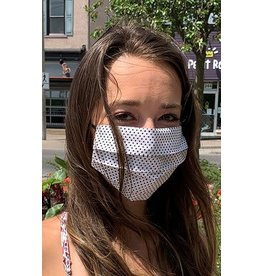 Mondor Adult Cotton Pleated Mask - Polka Dot