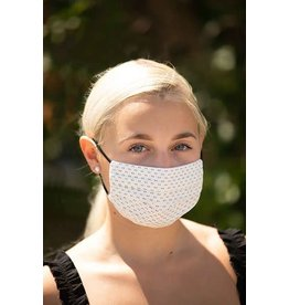 Mondor Adult Cotton Pleated Mask - Blue Arrow