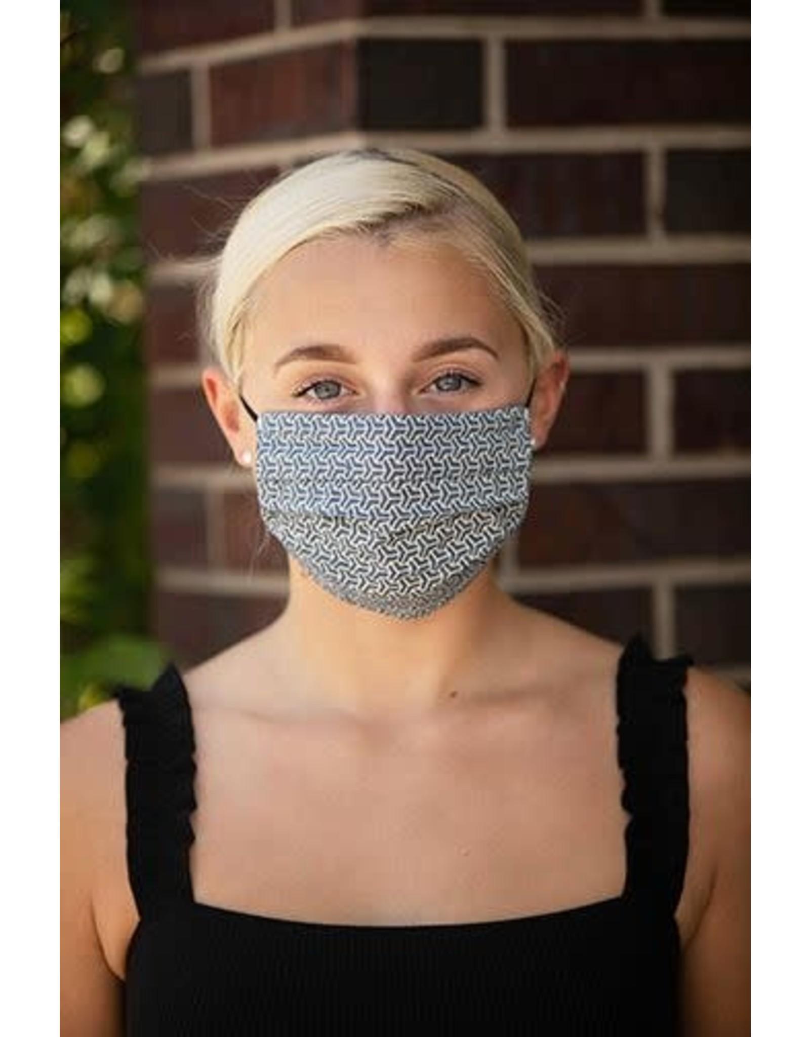 Mondor Junior Cotton Pleated Mask - Metal