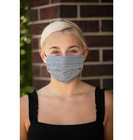 Mondor Junior Cotton Pleated Mask - Metal