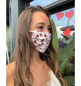 Mondor Adult Cotton Pleated Mask - Begonia