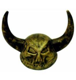SKS Novelty Gold Skull Viking Helmet