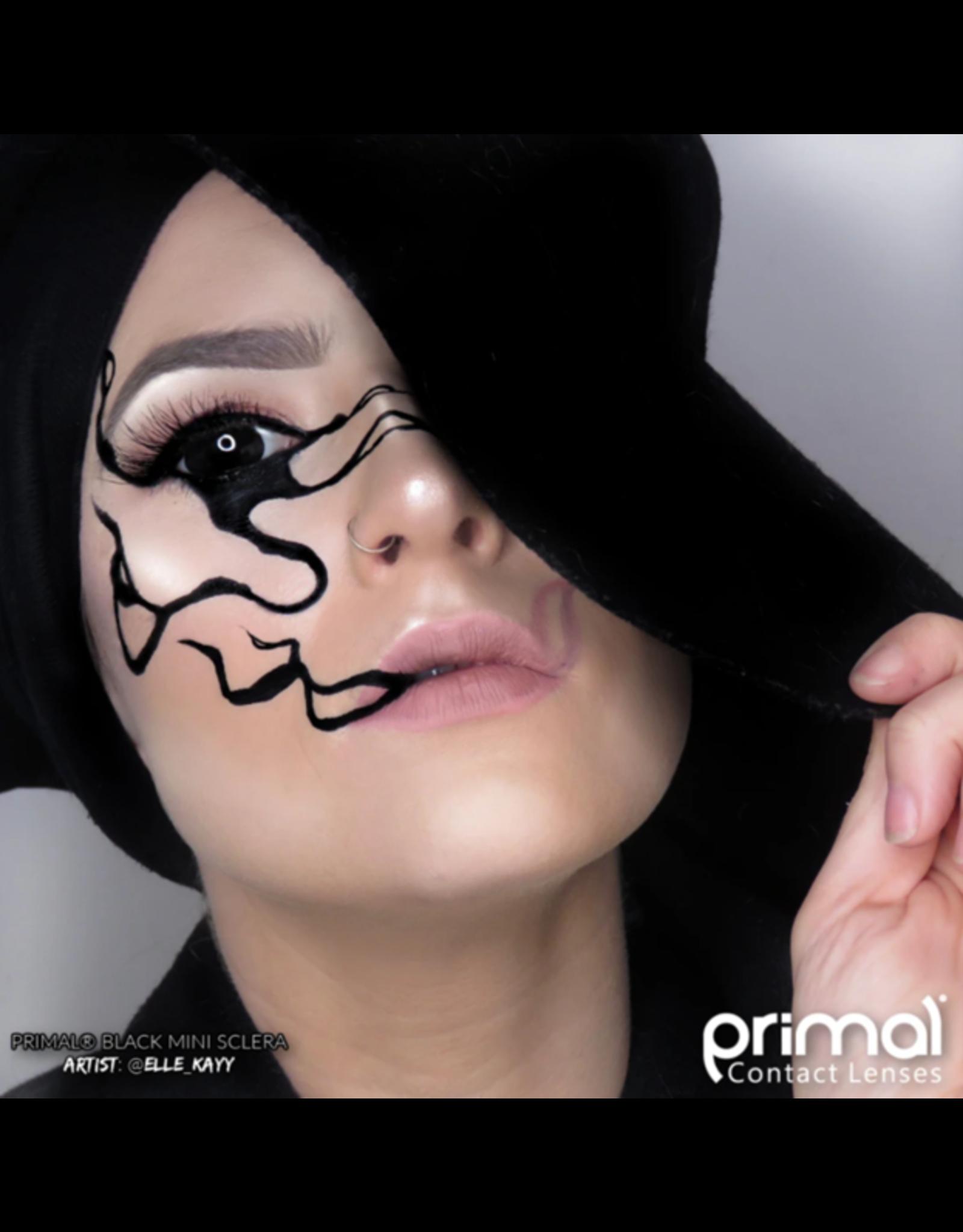 Primal Mini Sclera Costume Contact Lenses  Black MS