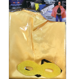 HM Smallwares Superhero Cape w/Mask Yellow