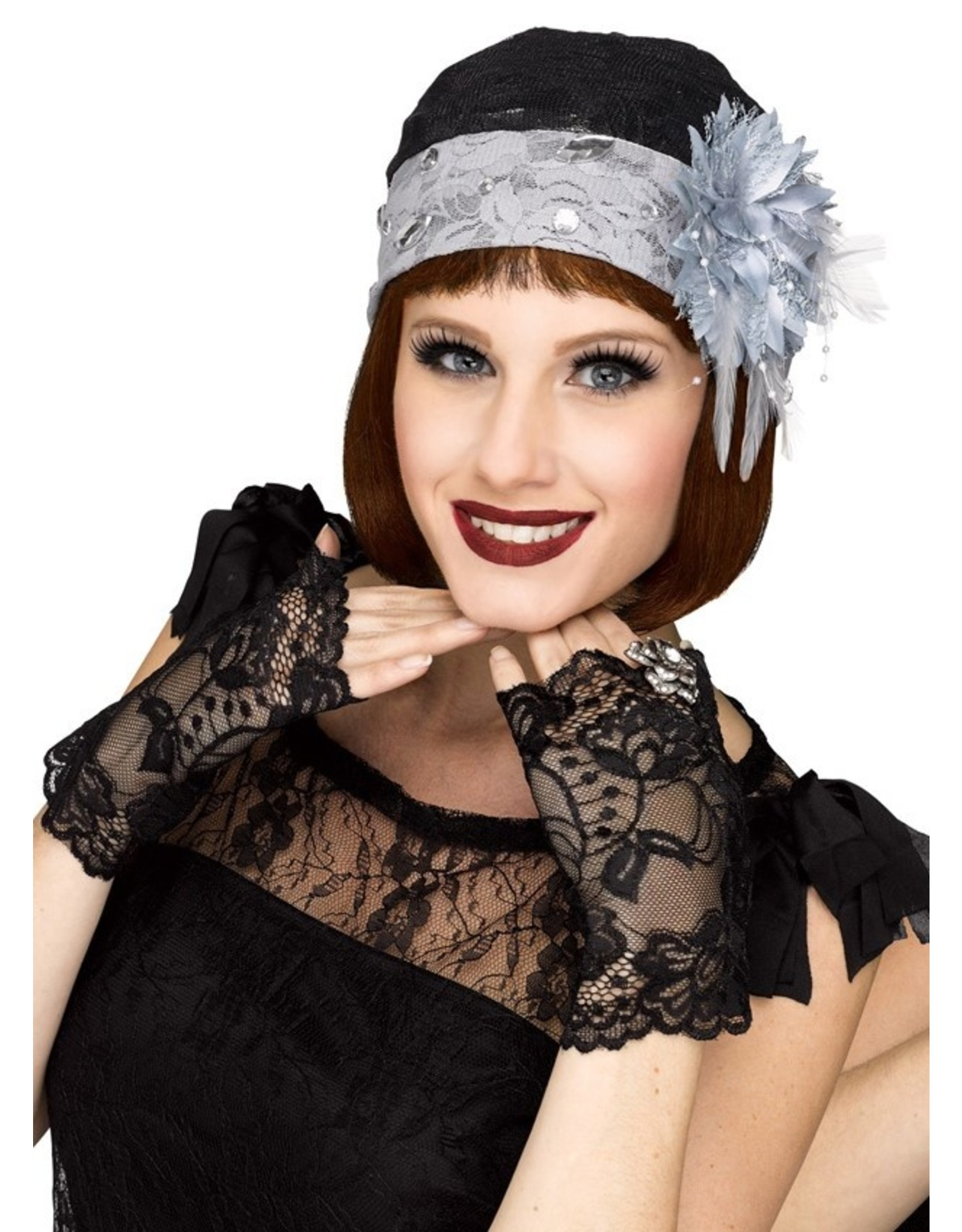 Fun World 1920's Lace Hat & Mitts