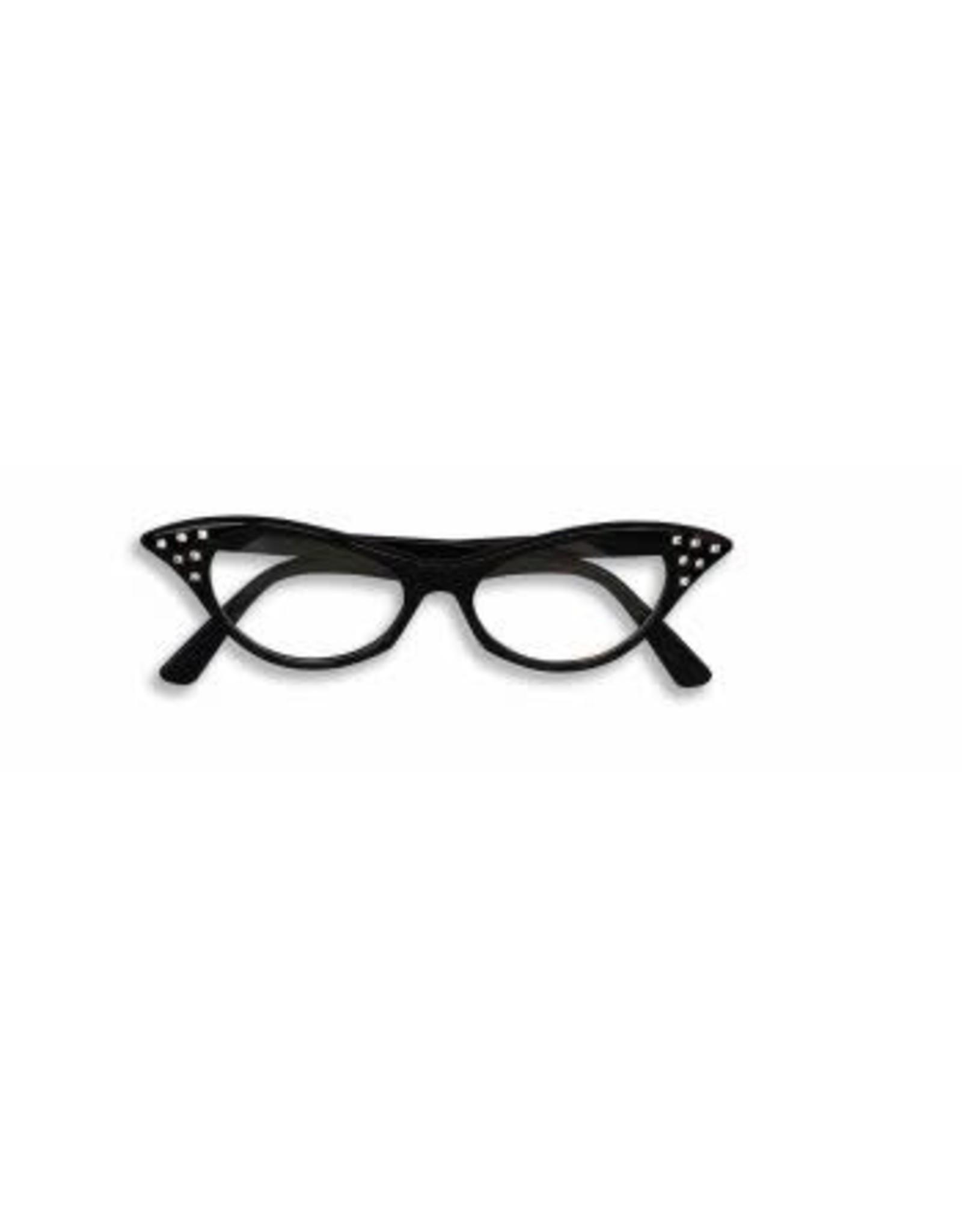 Forum Novelties Inc. Black 50's Rhinestone Glasses