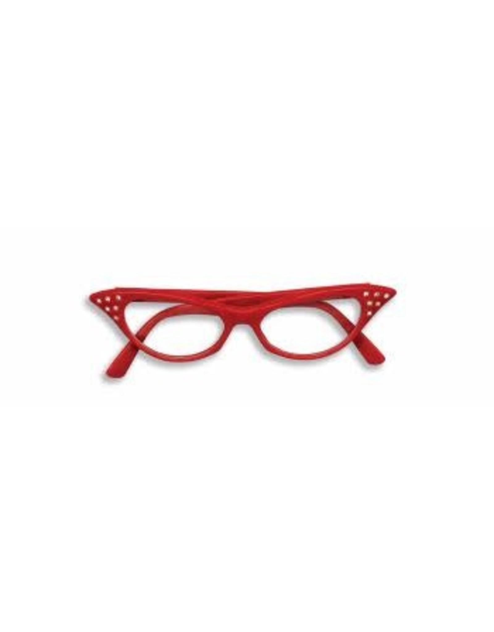 Forum Novelties Inc. Red 50's Rhinestone Glasses