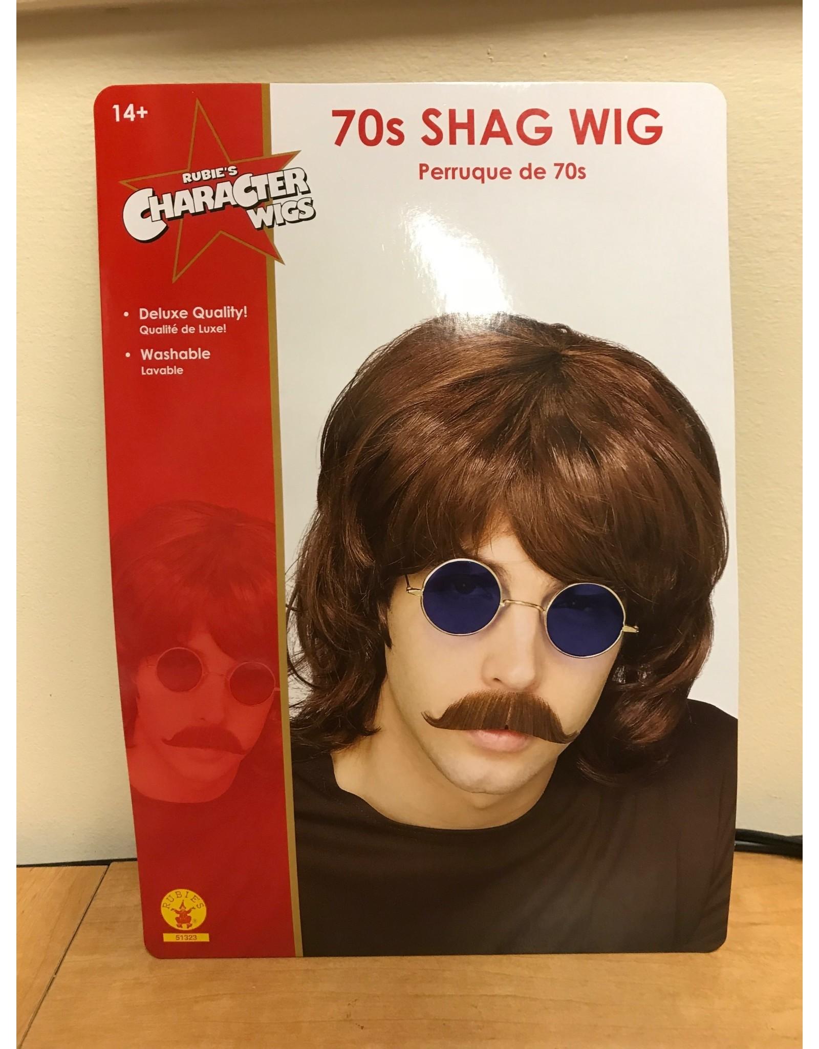 Rubies Costume Brown 70's Shag Wig