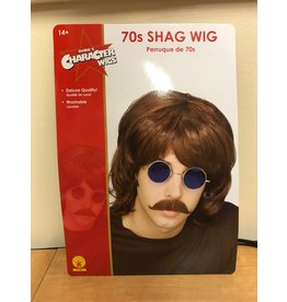 Rubies Costume Brown 70's Shag Wig