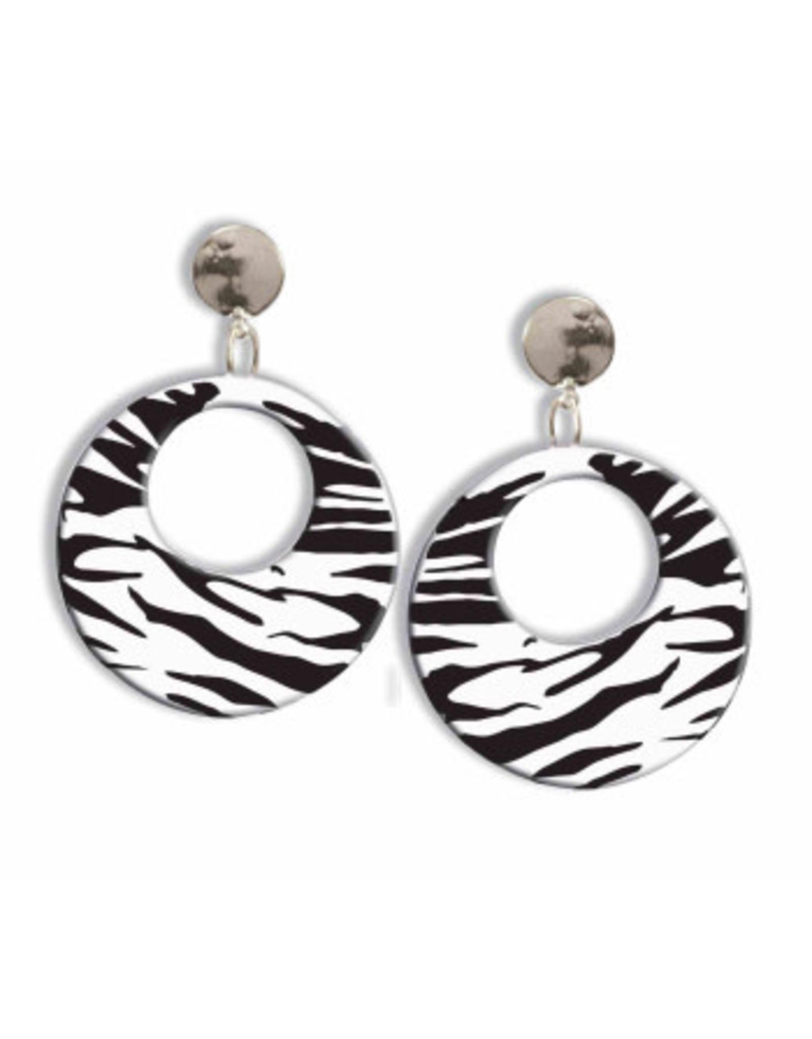Forum Novelties Inc. 80's Zebra Earrings
