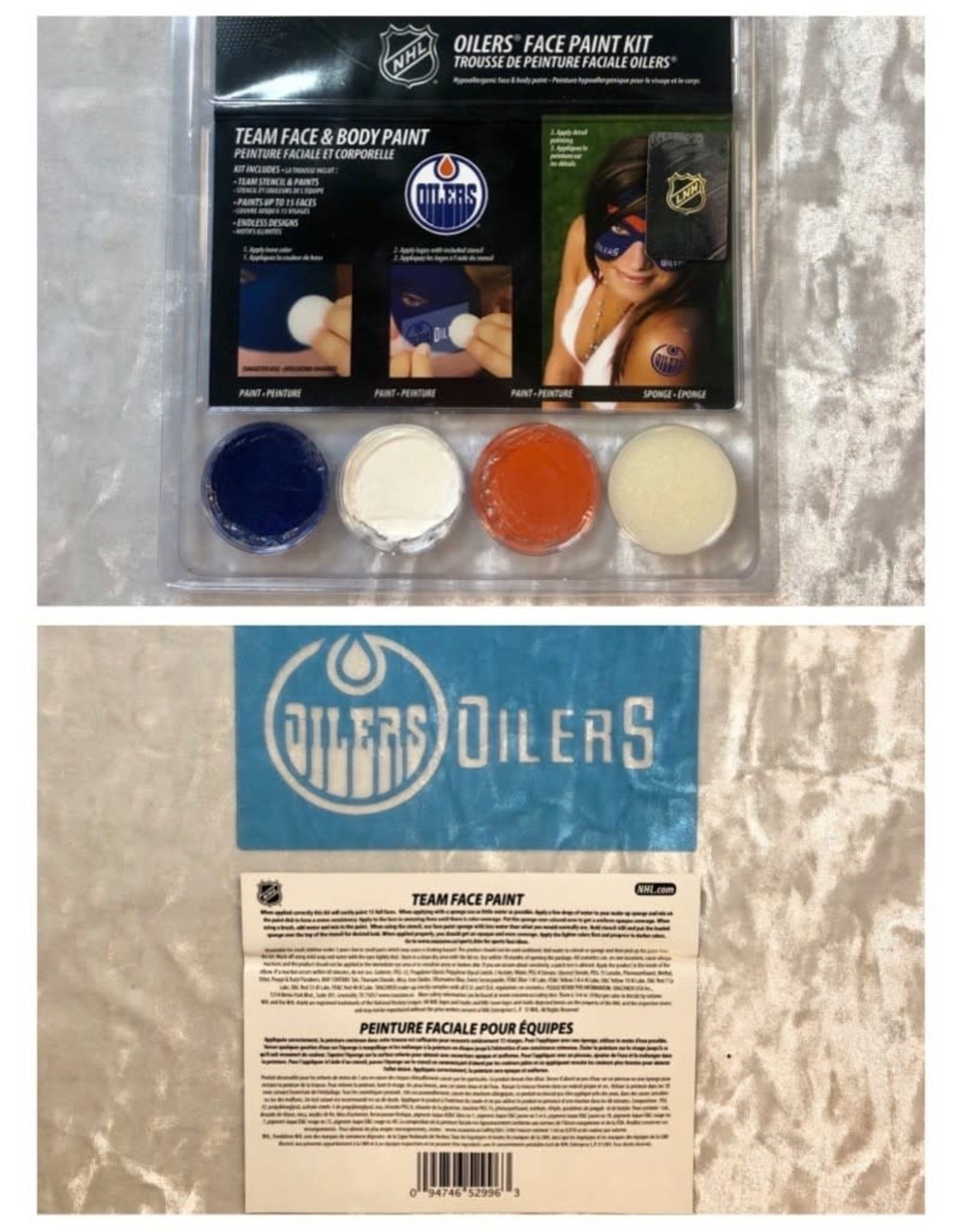 NHL Oilers Face Paint Kit