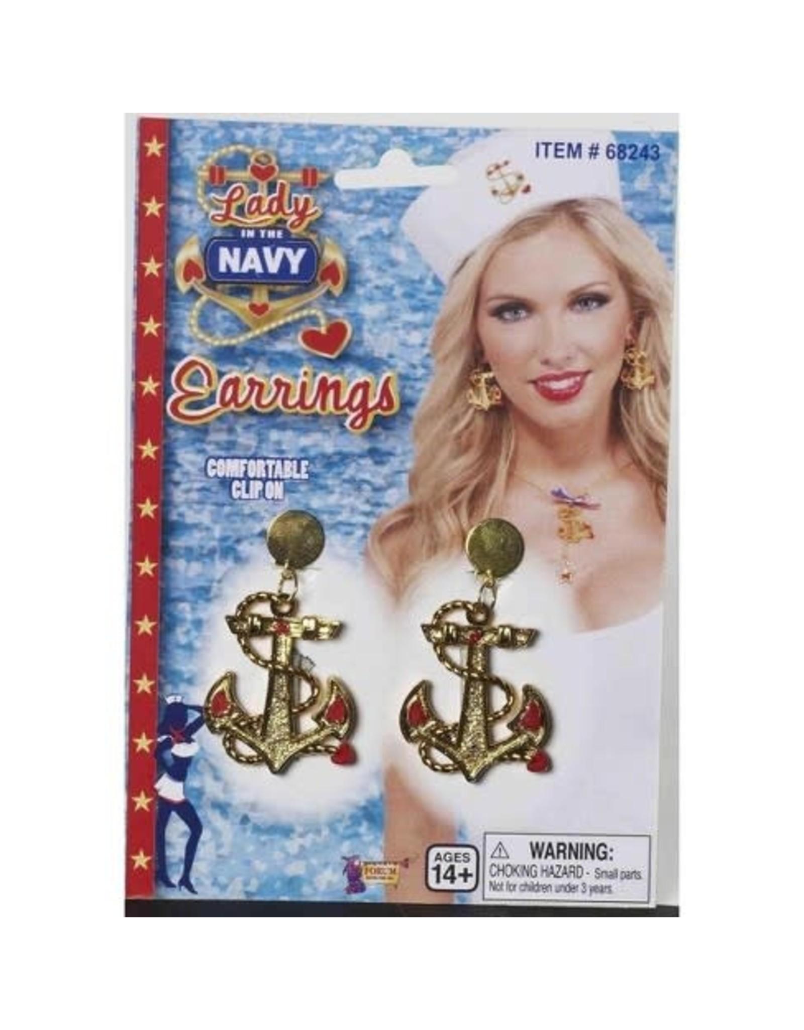Forum Novelties Inc. Lady in the Navy Clip On Earrings