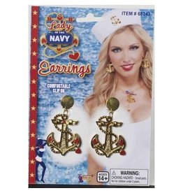Forum Novelties Inc. Lady in the Navy Clip On Earrings