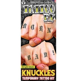Tinsley Transfers Temporary Tattoos - Old English Alphabet